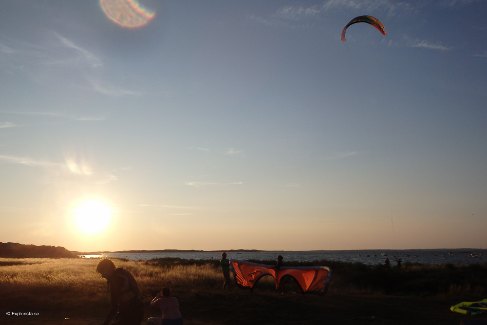 kitesurf solnedgång varberg