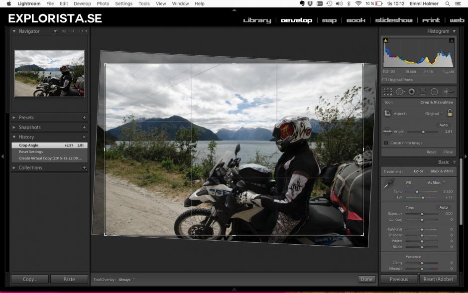landskapsbilder redigering lightroom
