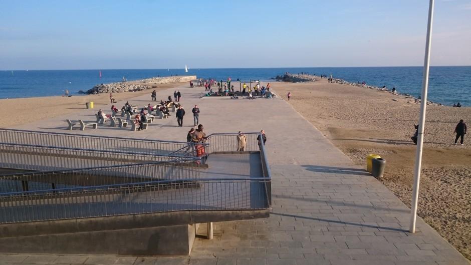utegym strand barcelona