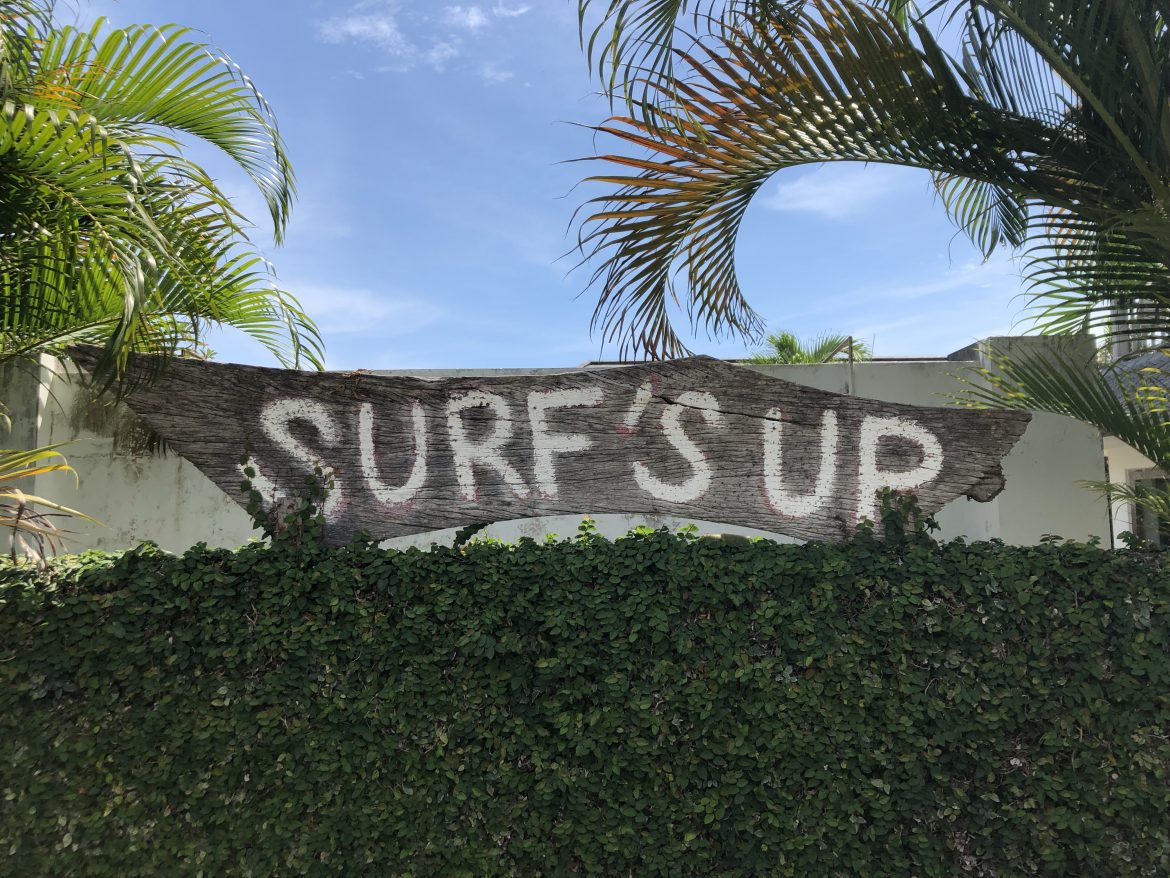 surf's up-skylt