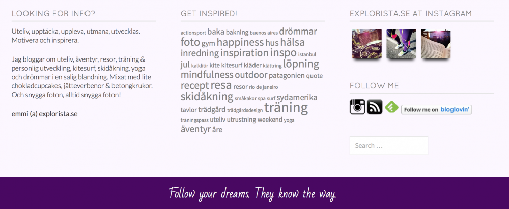 explorista blogg