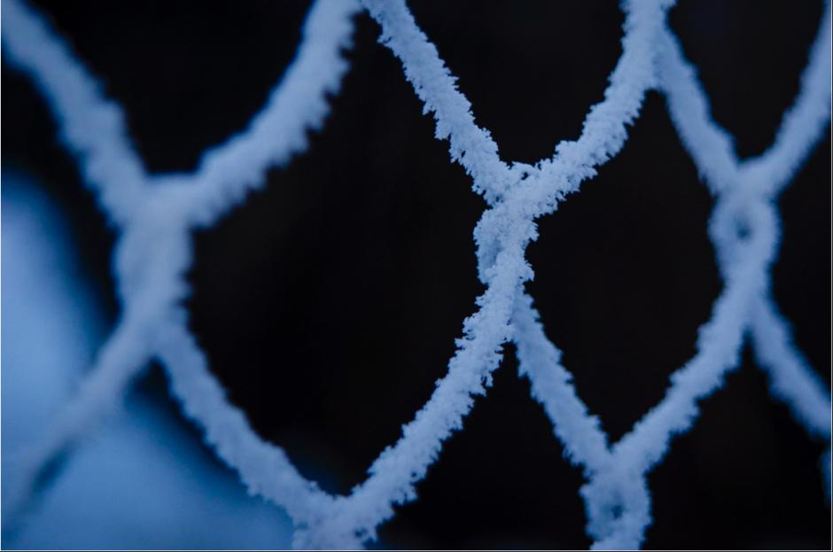 stängsel med frost
