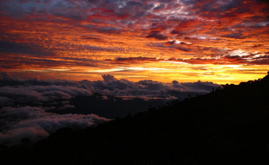 solnedgång mount kinabalu