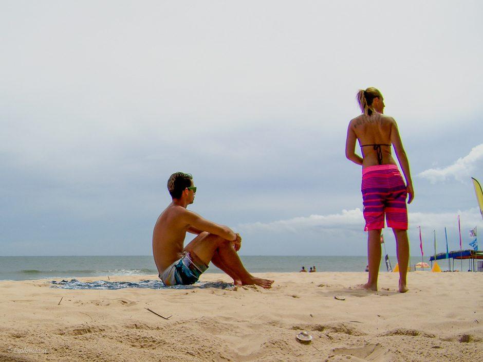 personer på strand