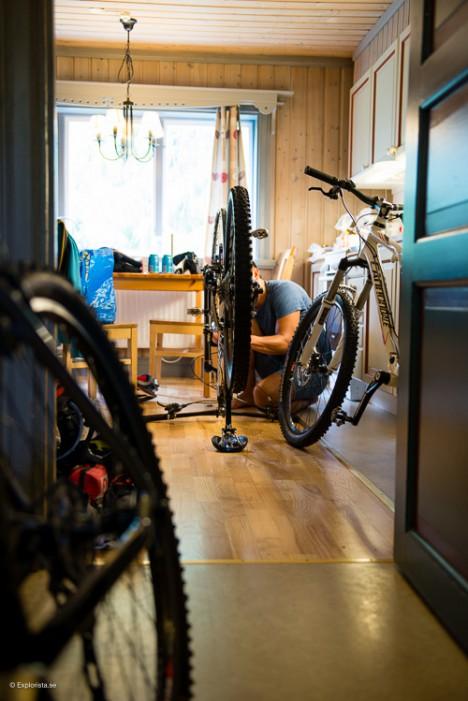 cyklar i köket
