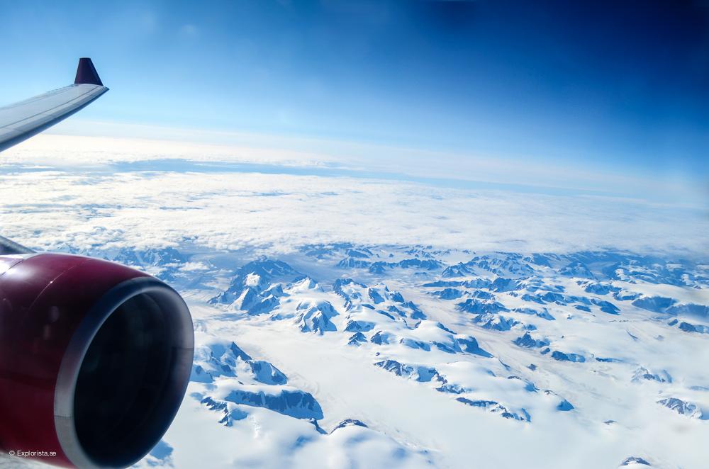 isberg på grönland flygbild