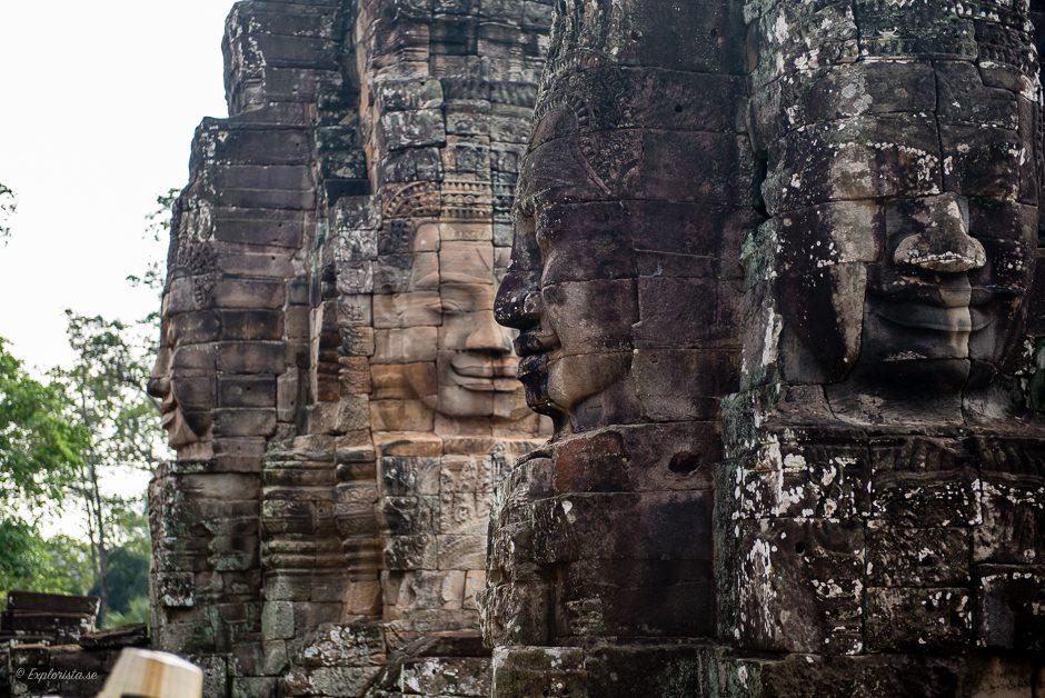 ansikten i stenen, tempel i kambodja