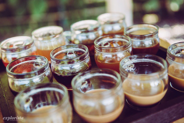 kaffe- och teprovning, muggar