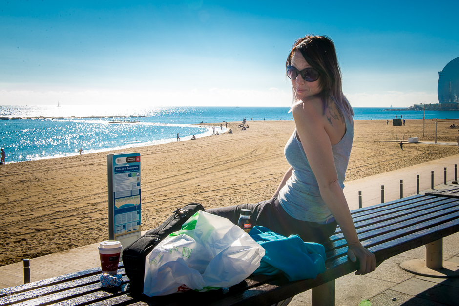 beach breakfast barcelona