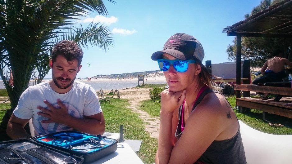 explorista på beachbar