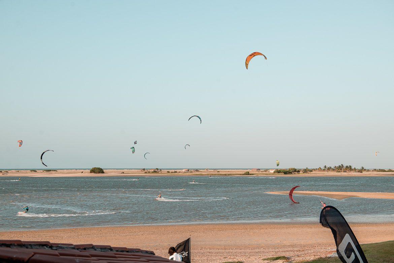 ilha do guajirú, brasilien, kitesurf
