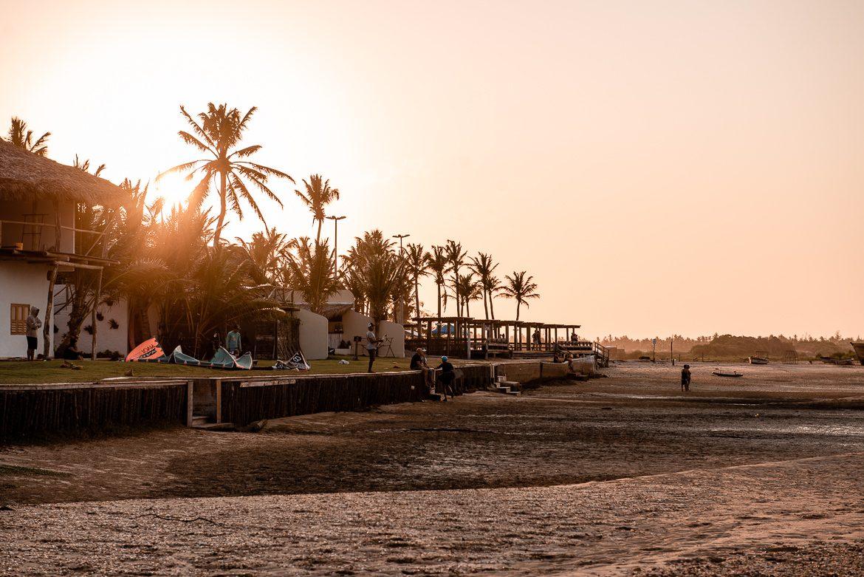 ilha do guajirú, brasilien, kitesurf sunset