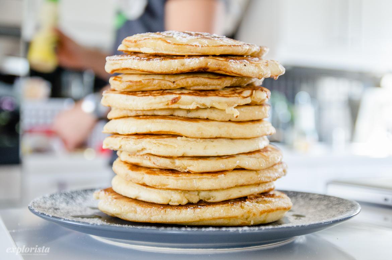 american pancakes på hög