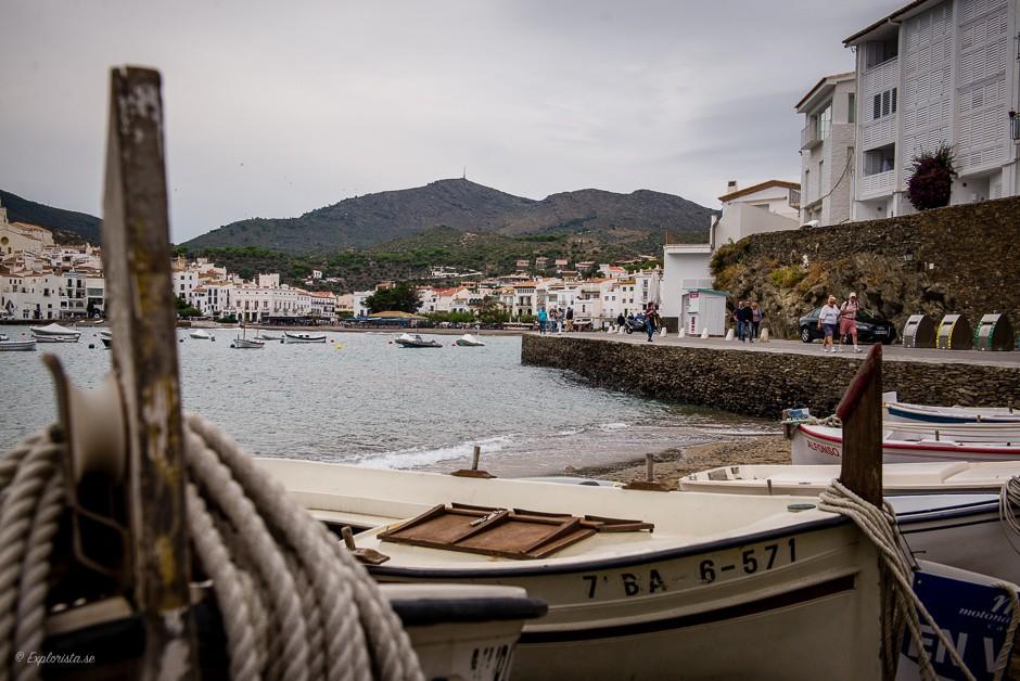 utsikt båtar stad
