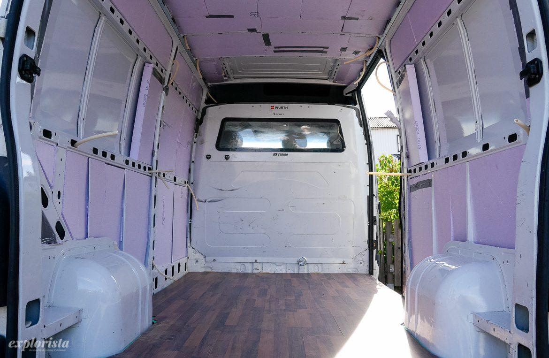 XPS-isolering i campervan