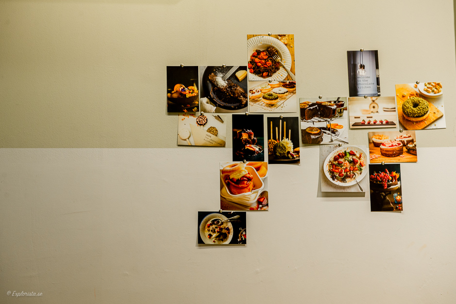 foton på vägg