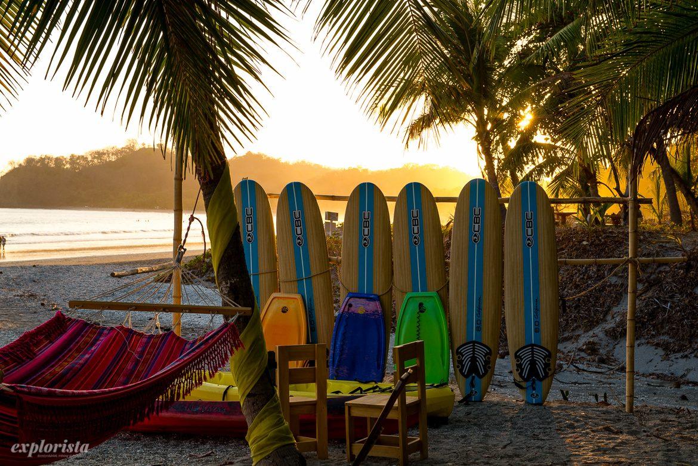 surfbrädor solnedgång samara