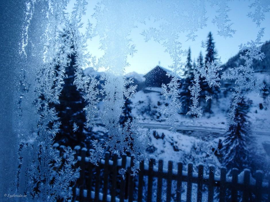 frostig fönsterruta