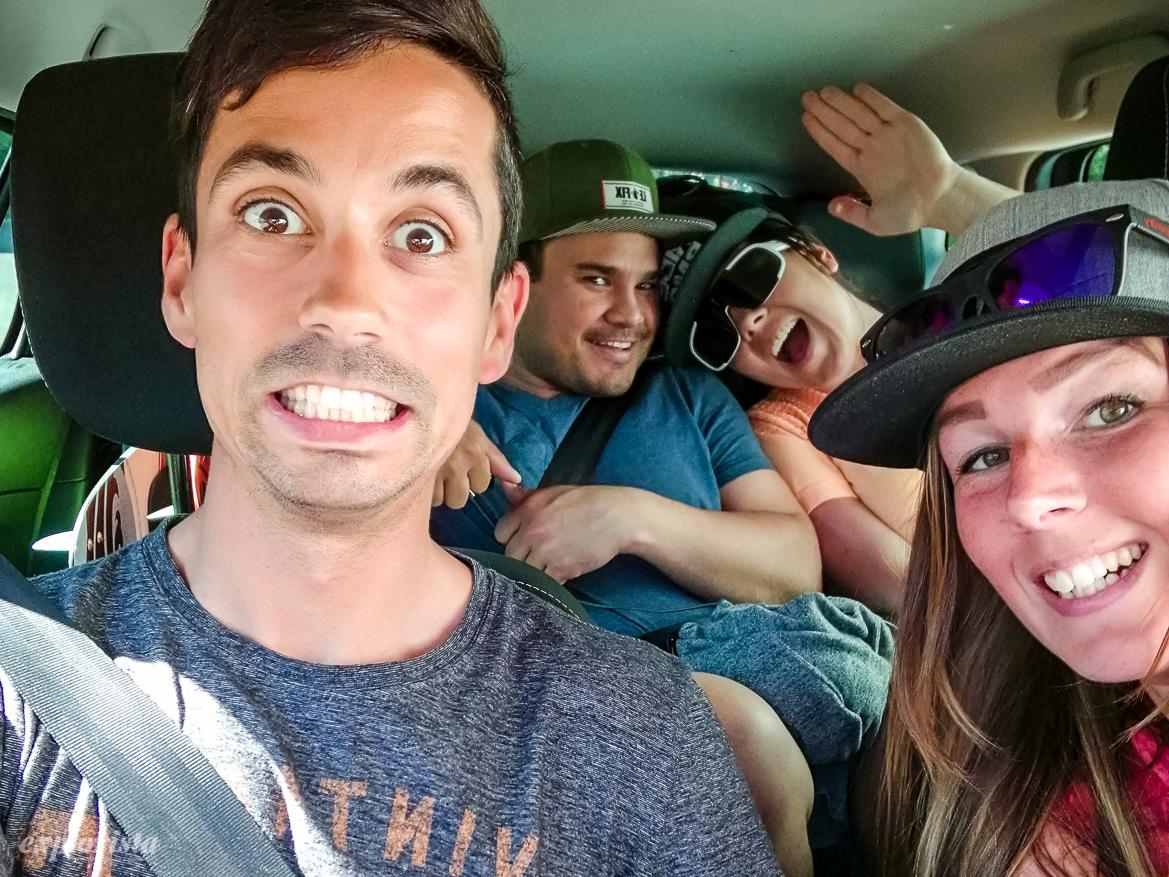 fyra pers i bil