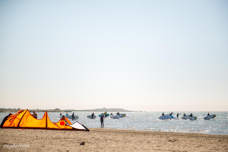 kite på strand