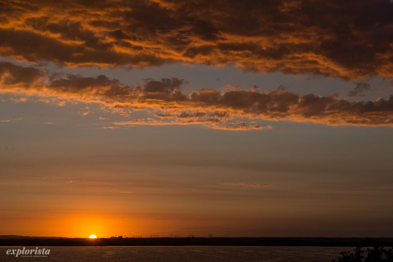 magisk solnedgång jylland