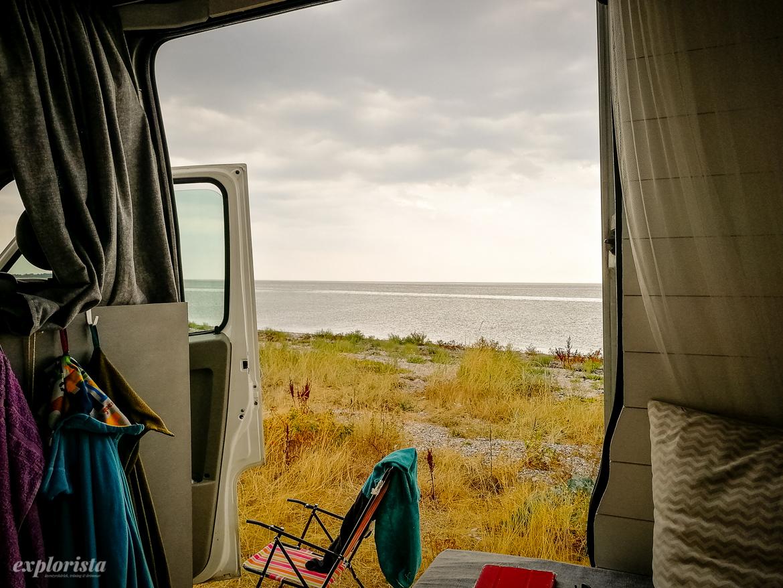 utsikt från campervan