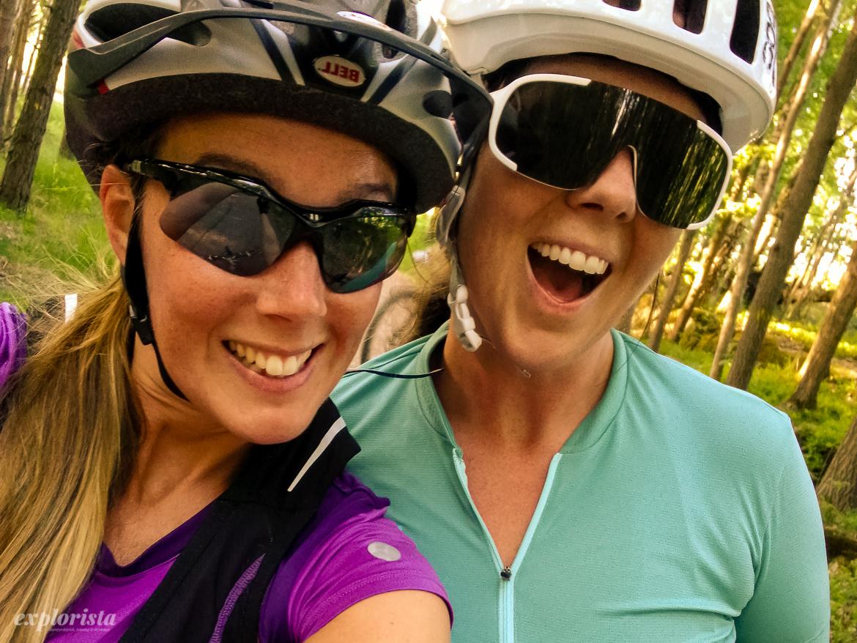 explorista och sara rönne mountainbike