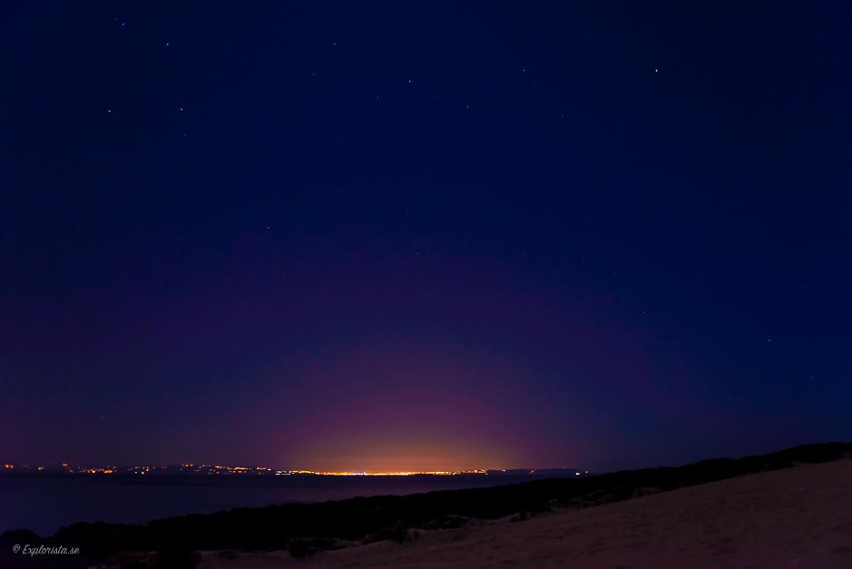 utsikt över havet natt