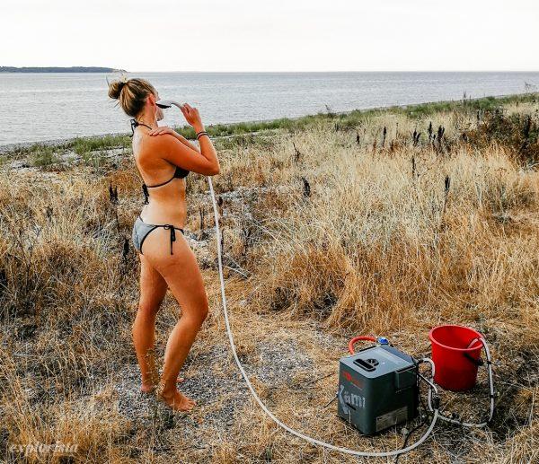 kampa geyser dusch till campervan