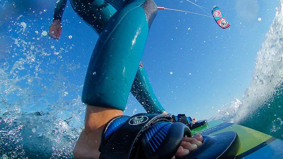 kitesurfer boardmount actioncam