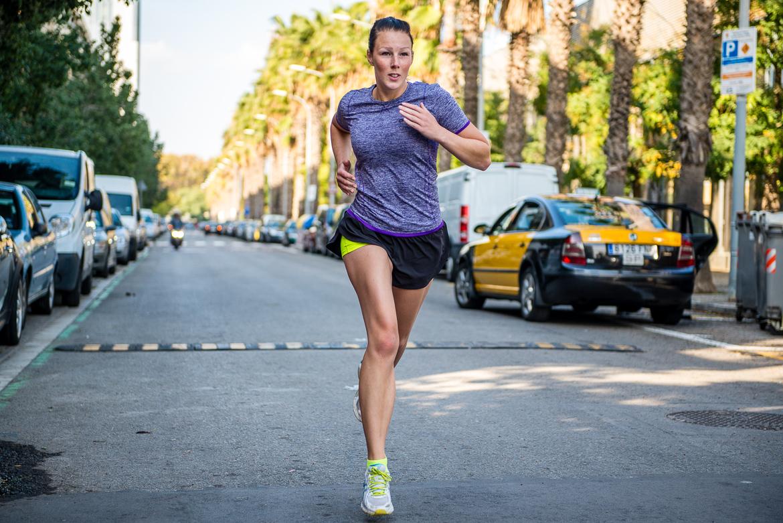 Löpare tjej