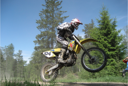 tjej motocross husaberg 450