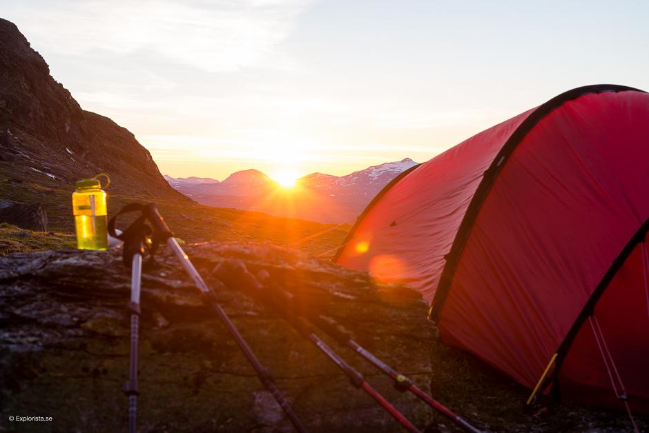 solnedgång fjällen