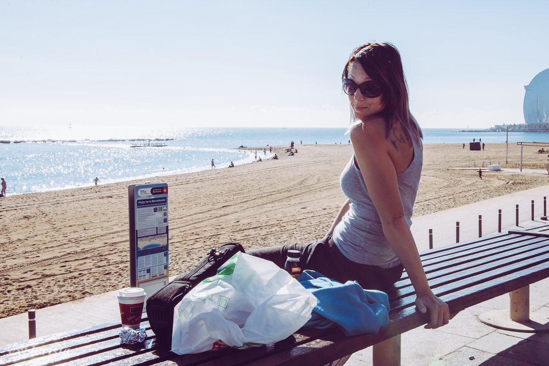emmi i barcelona via stranden