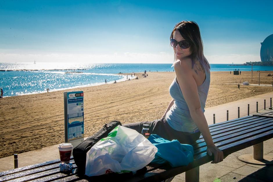 explorista vid stranden