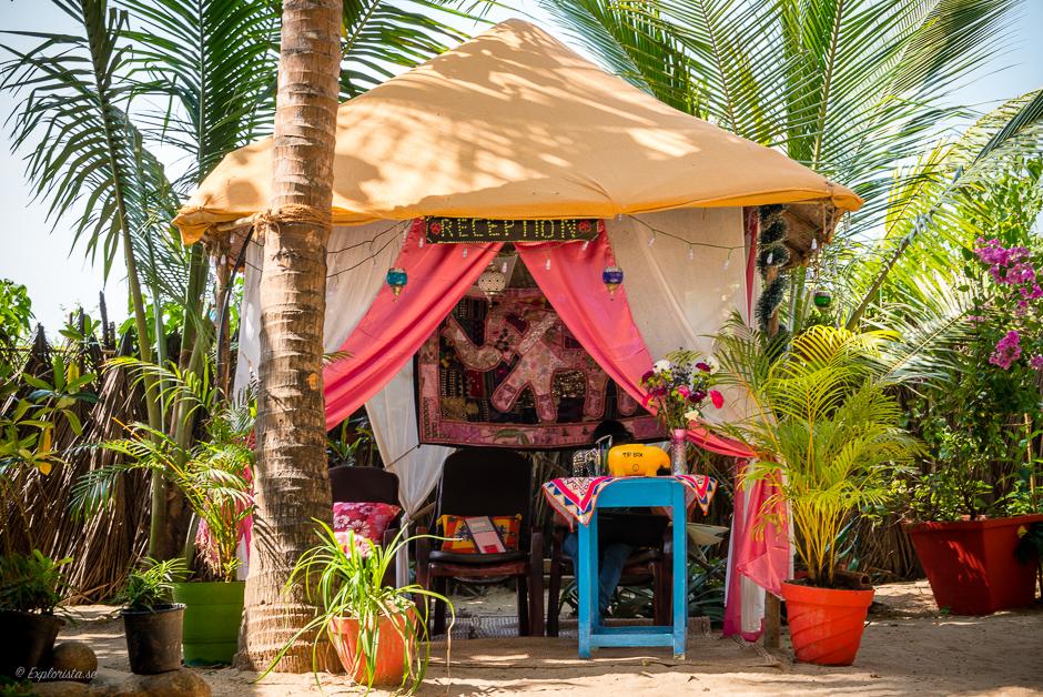 beach hut reception