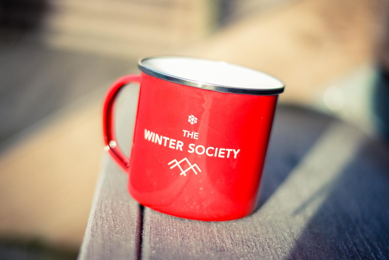 kombi - winter society emaljmugg