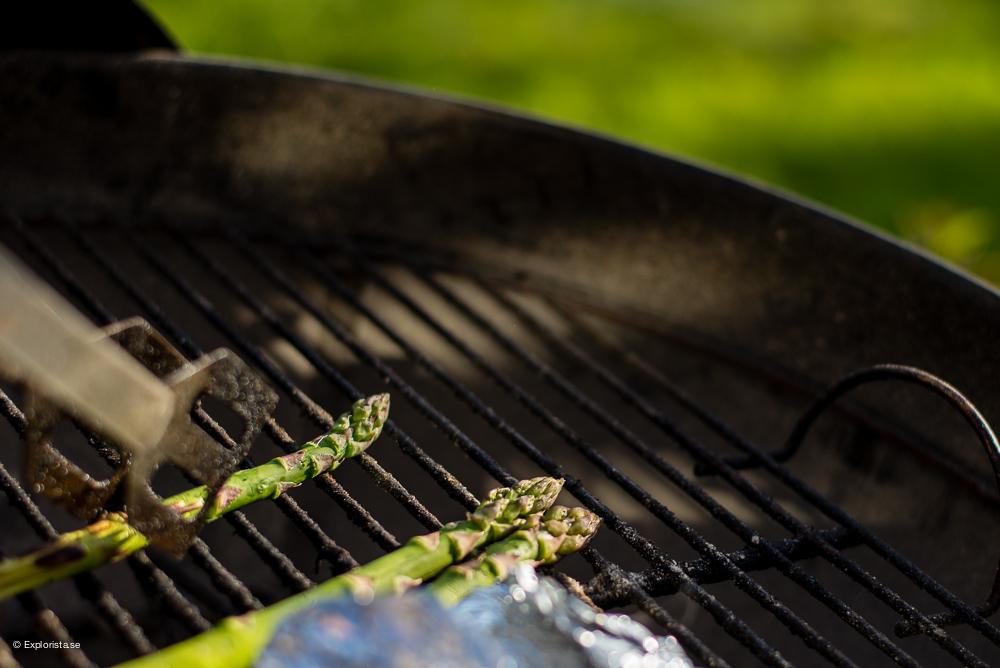 grillad sparris