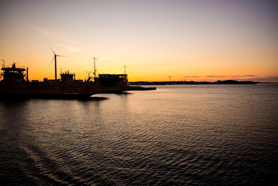 solnedgång göteborgs norra skärgård