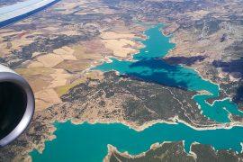 flyg över caminito del rey & sjö