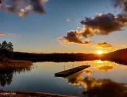 härlanda tjärn solnedgång