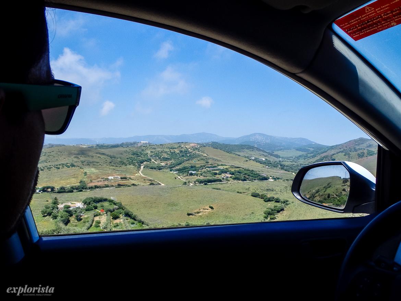 spanien genom bilfönster