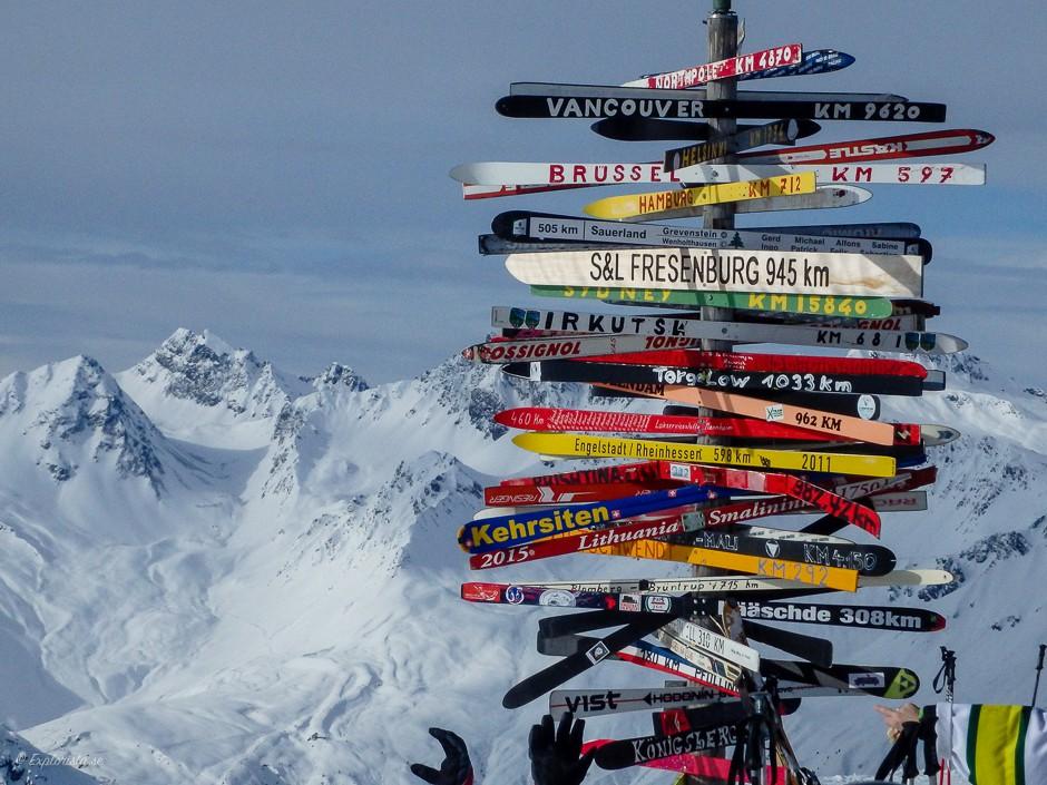 skyltar skidor ischgl