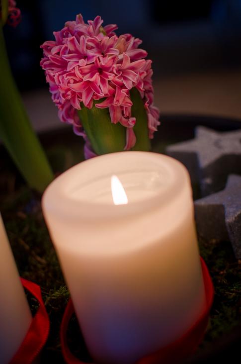 hyacint och ljus
