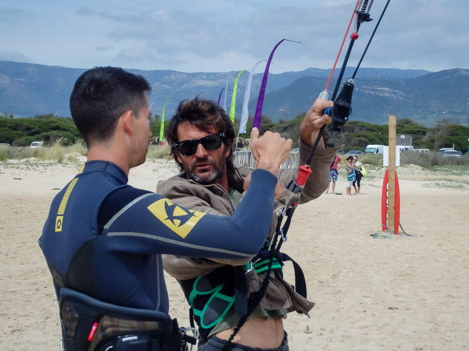 instruktion lärare kitesurf