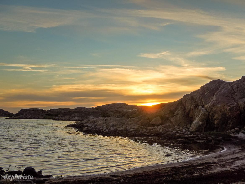 solnedgång stora rävholmen