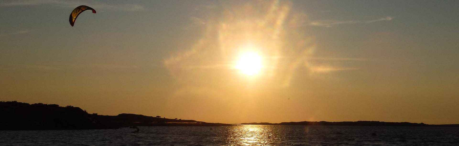 kite i solnedgång
