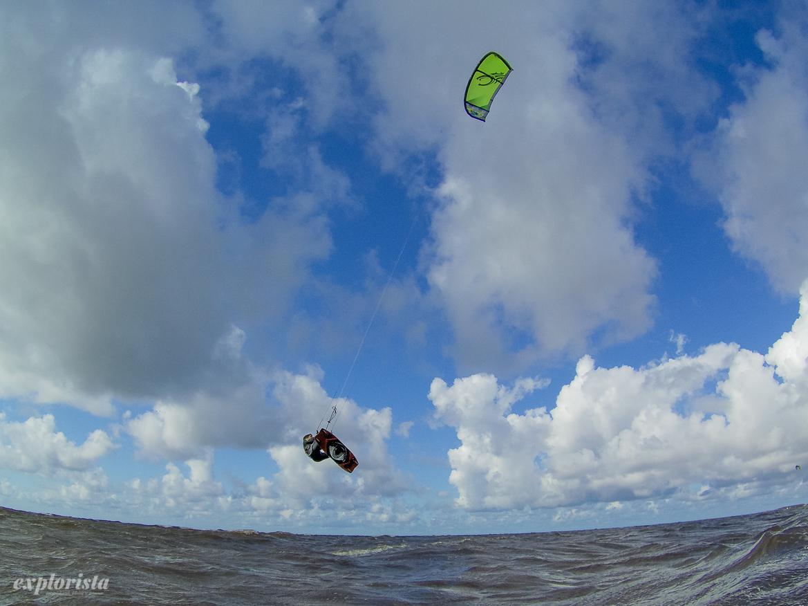 kitesurfare hoppar