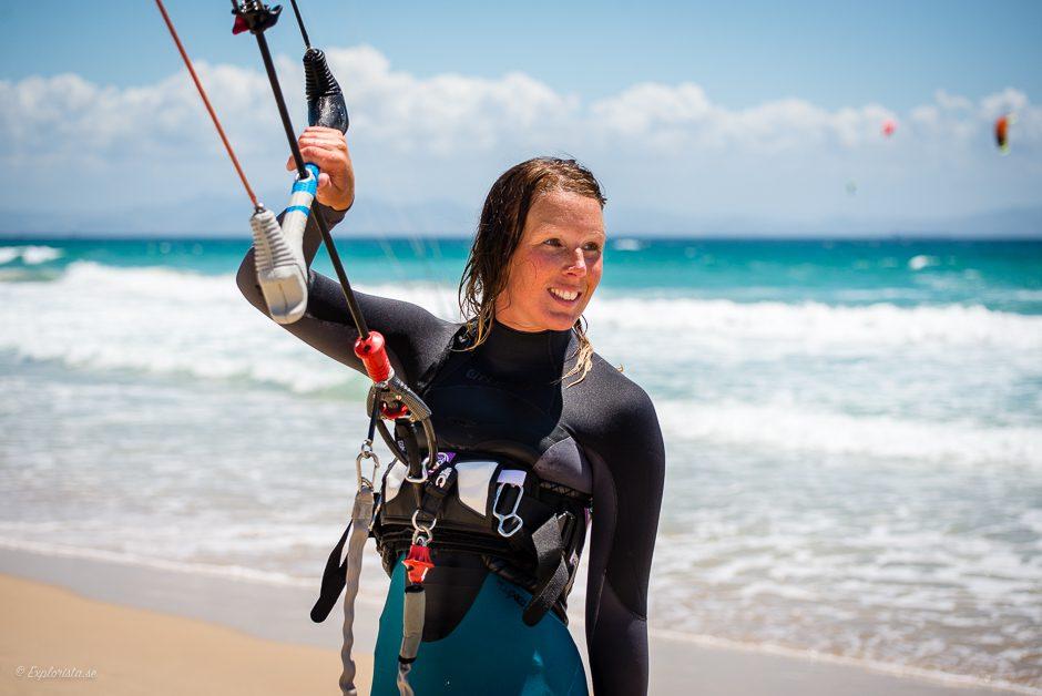 explorista tjej kitesurf