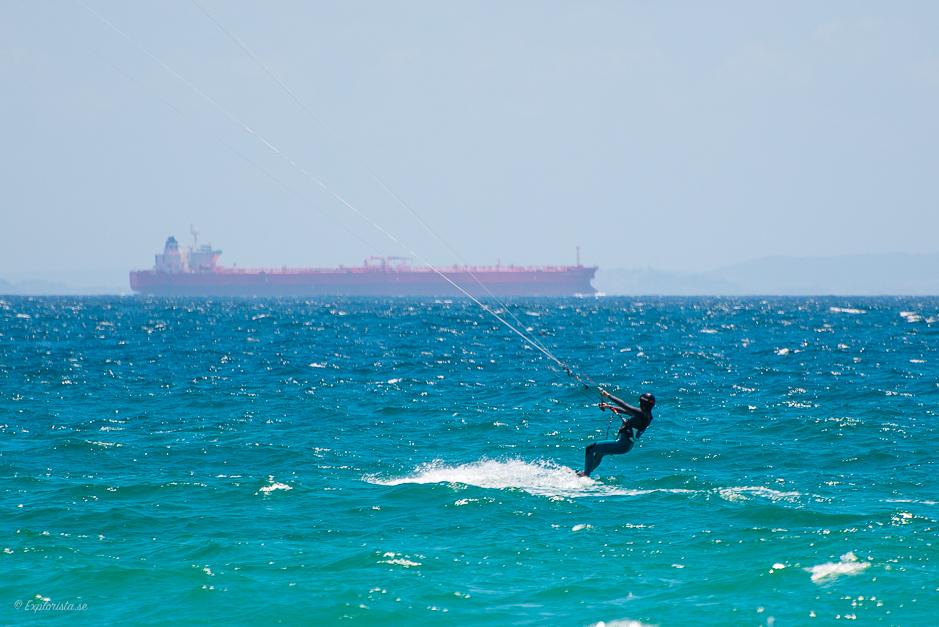 kitesurfare containerbåt